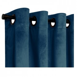 Set Cortina Velvet Azul 140X220